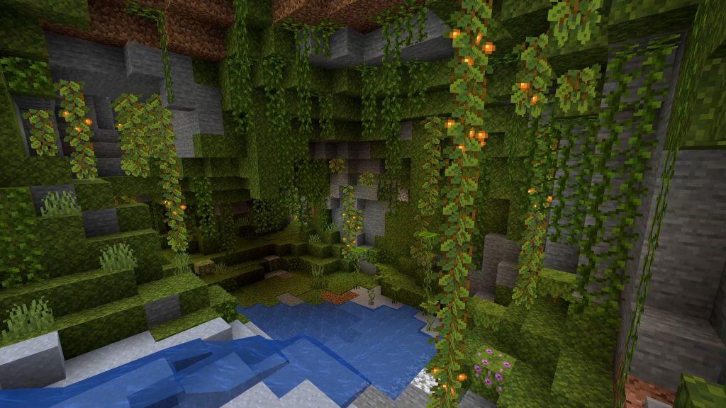 Minecraft-Lush-Höhlen