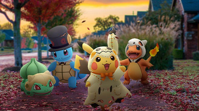 Pokémon GO Halloween Titel Pikachu Starter Gen 1