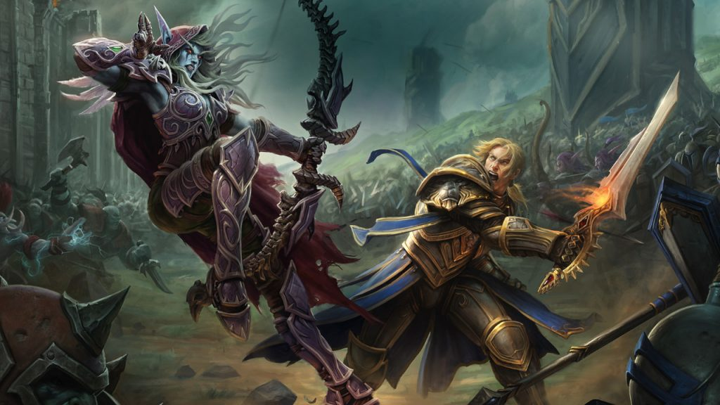 WoW Battle for Azeroth Sylvanas versus Anduin titel title 1280x720
