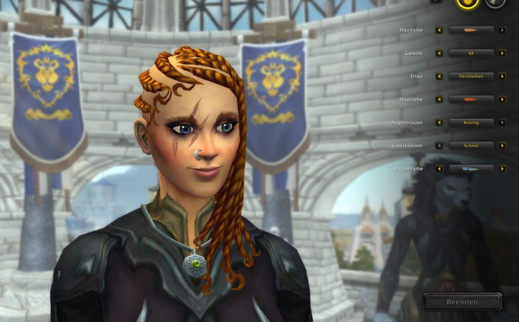 WoW Shadowlands Charakter Editor Worgen