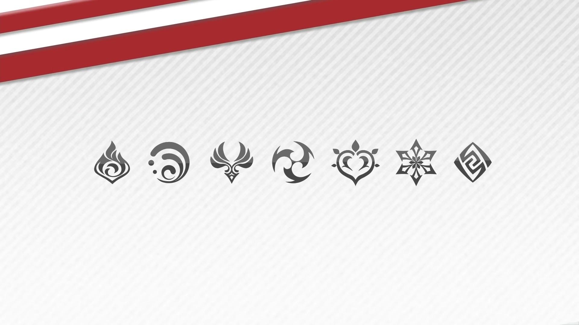 genshin impact elemente icons