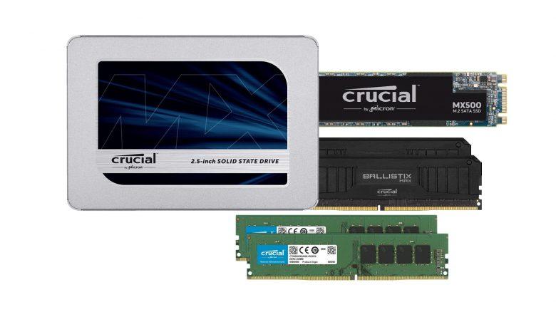 SSDs und Arbeitsspeicher von Crucial bei Amazon reduziert