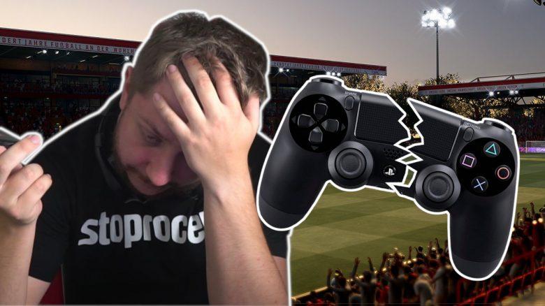 Twitch-Streamer wird in FIFA 21 so wütend, dass er den Controller mit bloßer Hand zerbricht