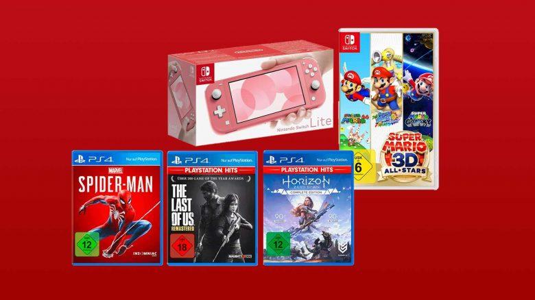 MediaMarkt Angebote: Nintendo Switch Lite & PS4 Hits-Bundle günstiger