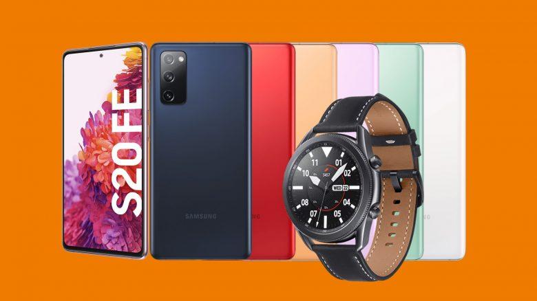 Samsung Galaxy S20 FE mit Watch 3 und 40 GB LTE günstig bei Saturn