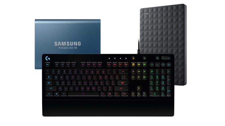 Logitech Gaming-Tastatur, externe HDDs und SSDs bei Saturn reduziert