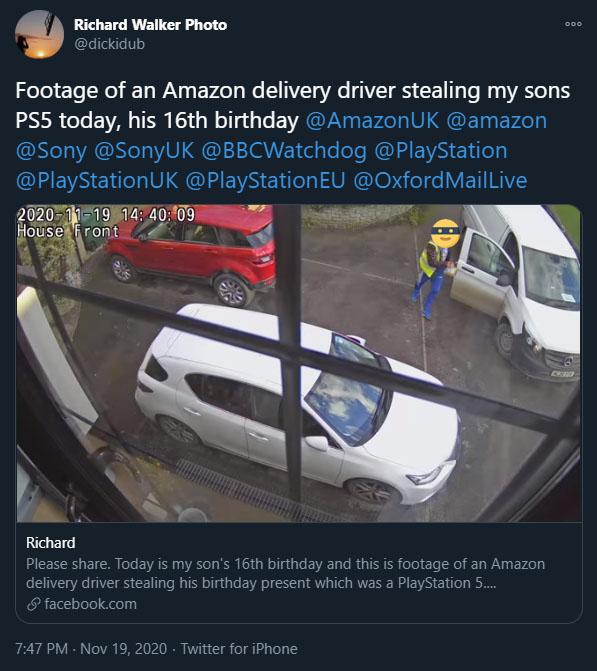 Amazon Diebstahl