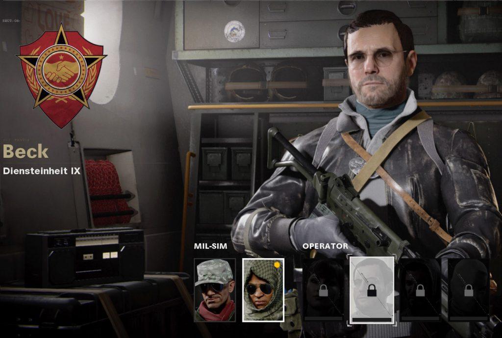 CoD Cold War Operator Beck
