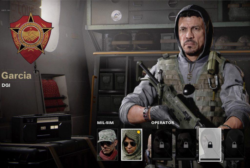 CoD Cold War Operator Garcia