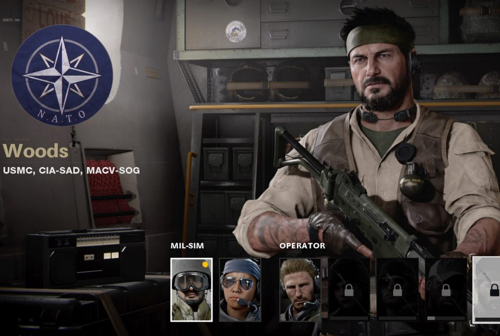 CoD Cold War Operator Woods