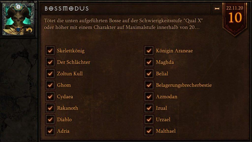 Diablo 3 Season 22 Bossmodus