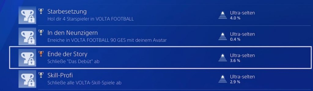 FIFA 21 Volta Trophäen