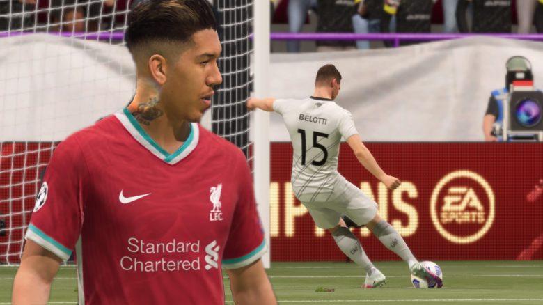 FIFA 21 flacher Vollspannschuss
