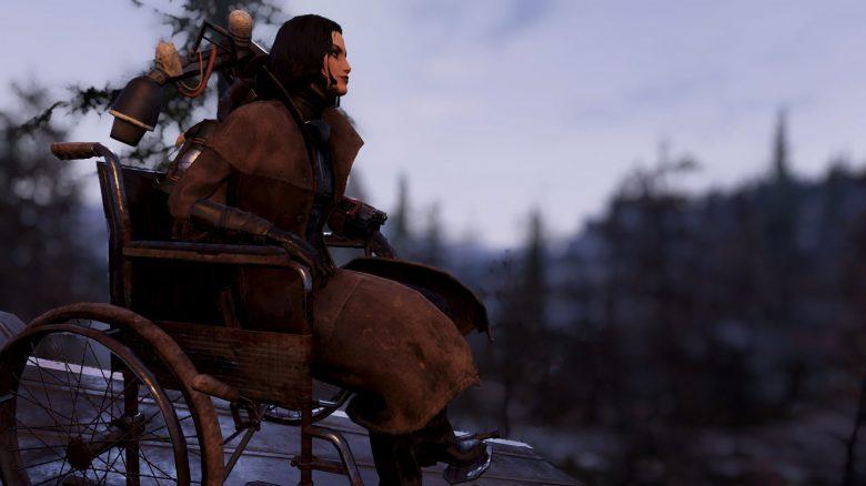 Fallout 76 - Rollstuhl im Baumenü