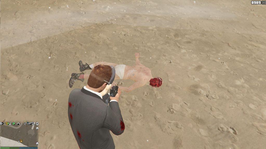 GTA Online Leiche Strand Gesicht
