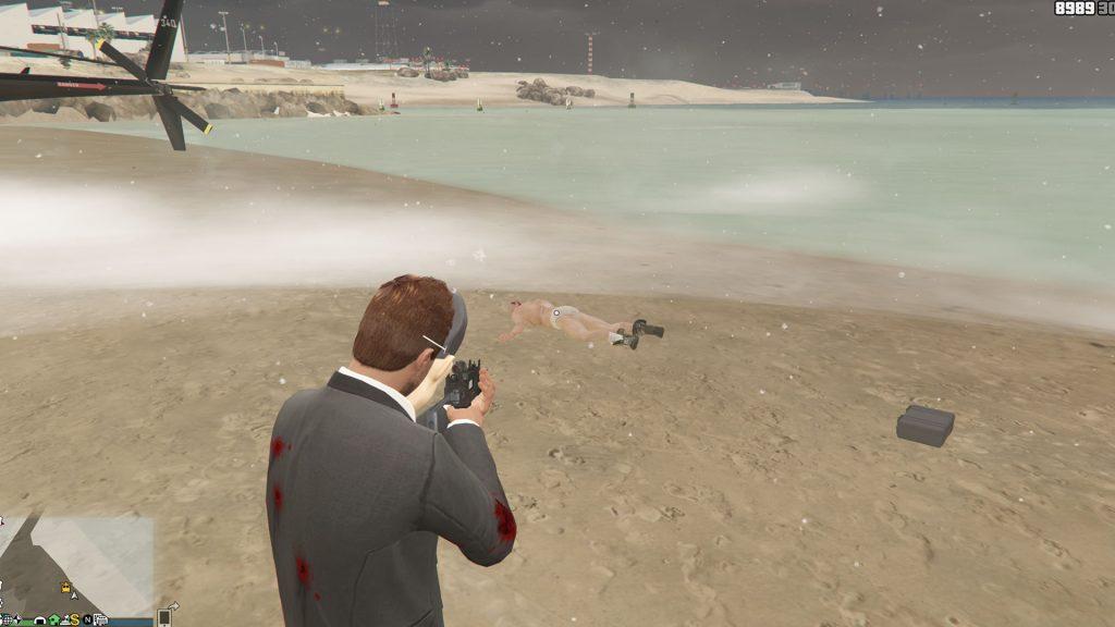 GTA Online Leiche Strand Koffer