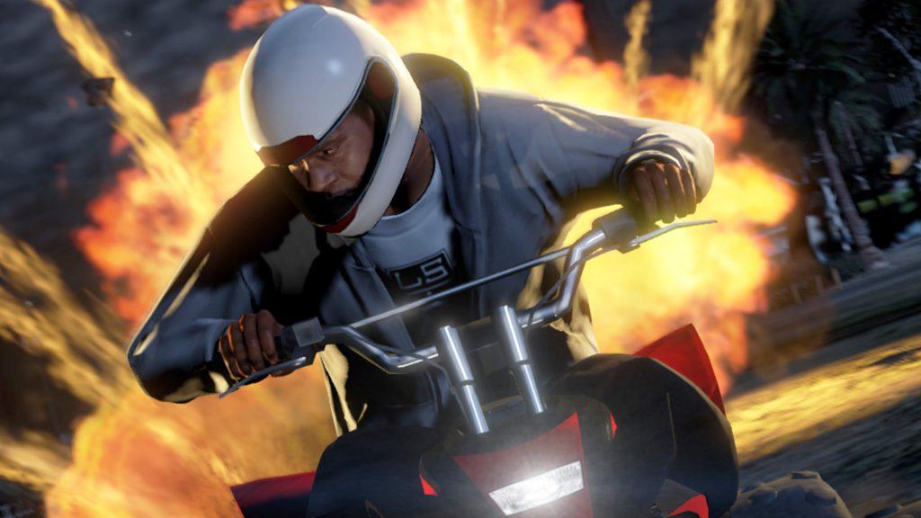GTA Online Motorrad Titel Explosion