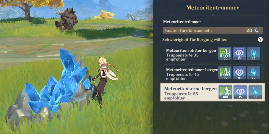 Genshin Meteoritentrümmer Herausforderung
