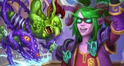 Hearthstone Demon Hunter Stelina Goblin Tentacles titel title 1280x720