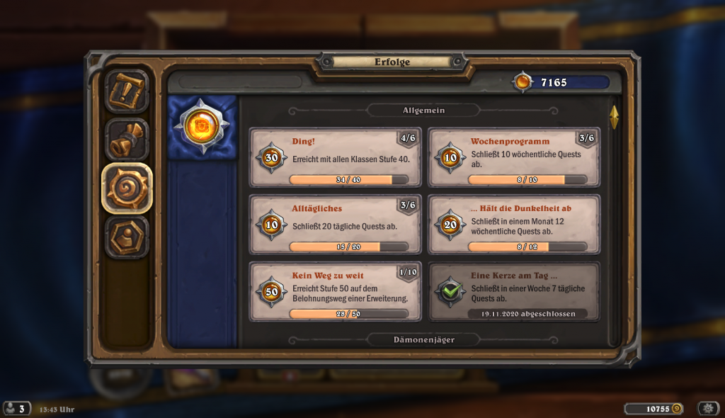 Hearthstone Kolumne Achievements