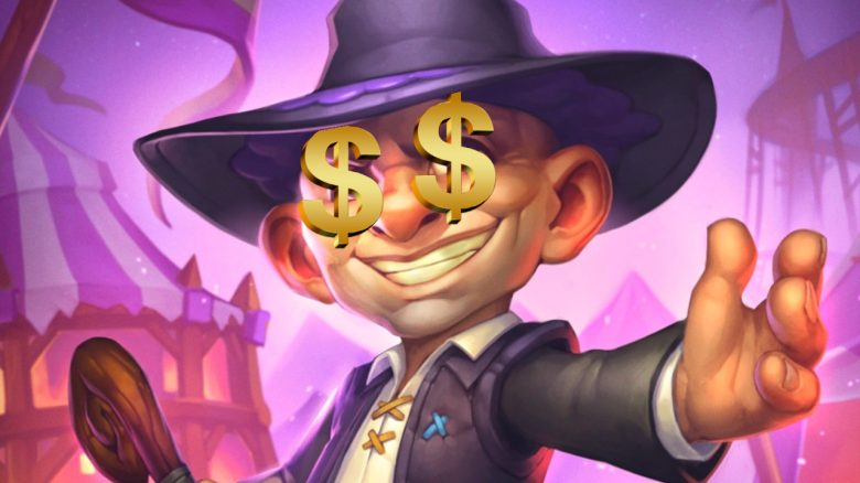 Hearthstone Silas Darkmoon Dollar Eyes Money titel title 1280x720