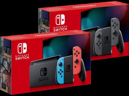 Nintendo Switch in zwei Farbvarianten