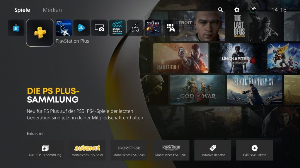PS Plus auf PS5 gamepro