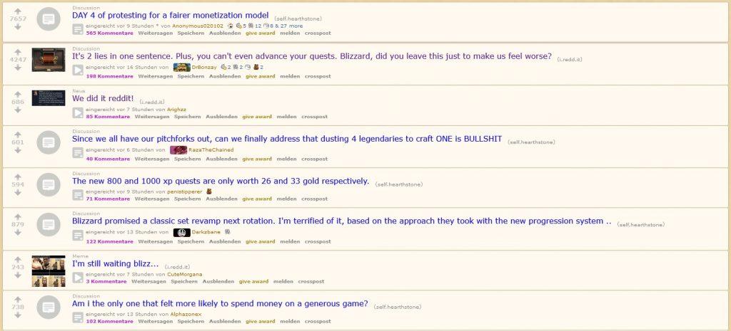Reddit Hearthstone Nicht gut