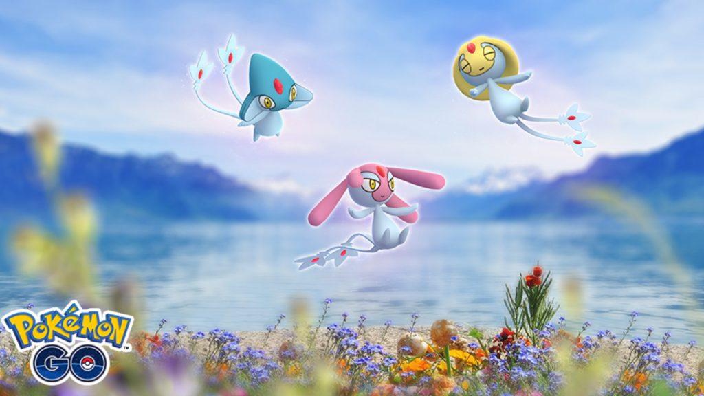 Seen Trio Selfe Tobutz Vesprit Pokemon GO