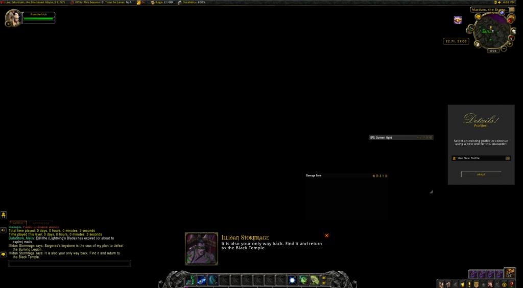 WoW Black Screen Demon Hunter