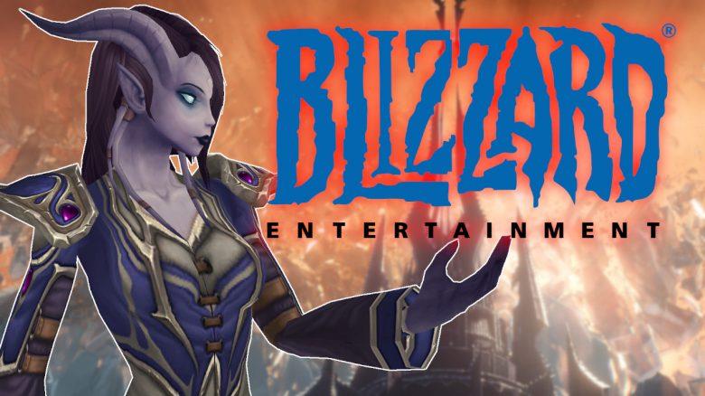 WoW Draenei holding Blizzard logo title titel 1280x720