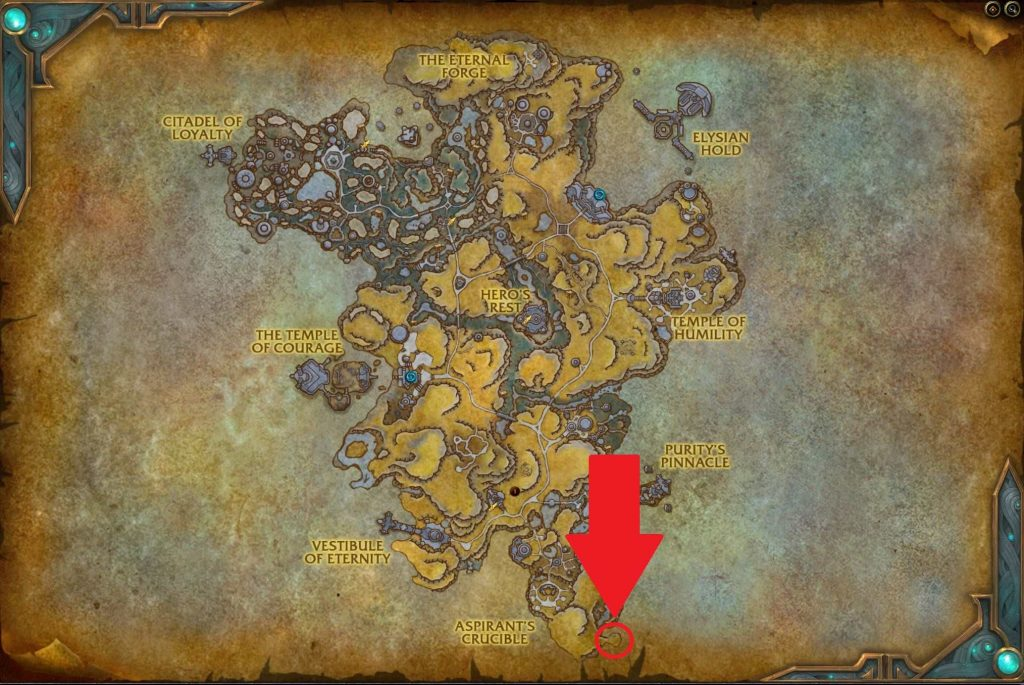 WoW Shadowlands Bastion Map