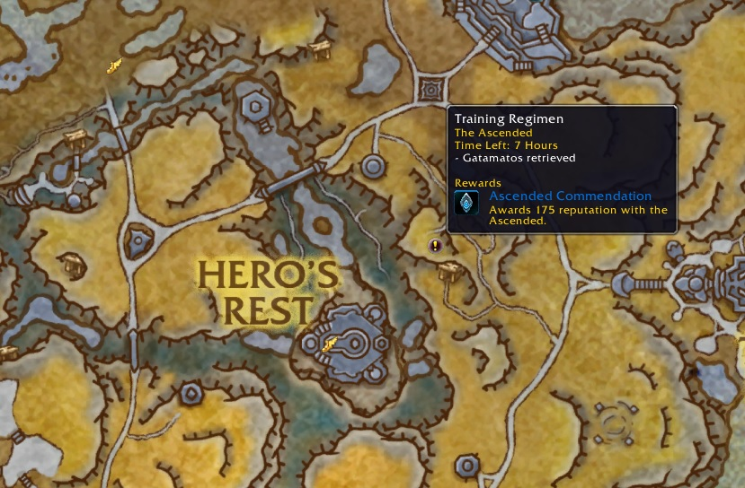 WoW World Quest Phalynx Map