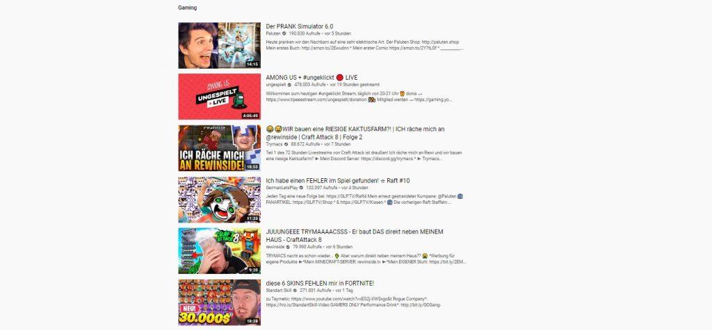 YouTube Trends Minecraft Craft Attack