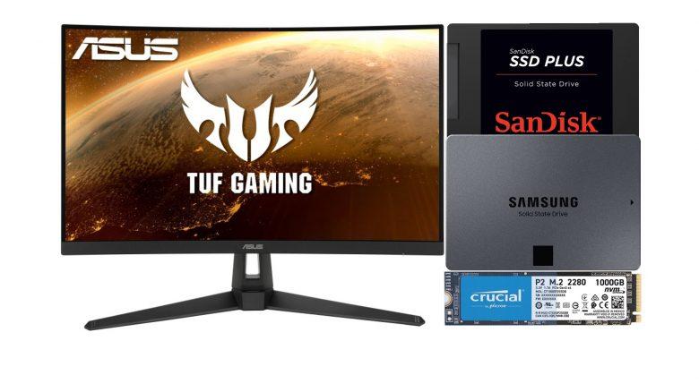 Asus Gaming-Monitor zum Bestpreis, SSDs günstig und mehr bei Amazon