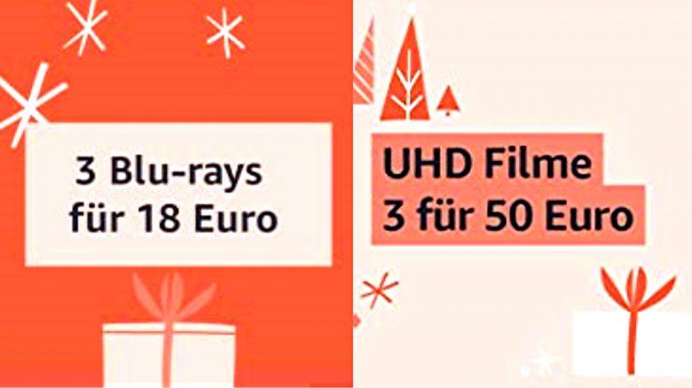 3 für 17,55 Euro: Blu-ray-Filme im Dreierpack bei Amazon vergünstigt