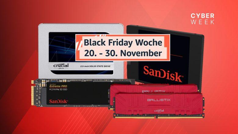 SSDs und RAM teils zum Bestpreis bei der Amazon Black Friday Woche