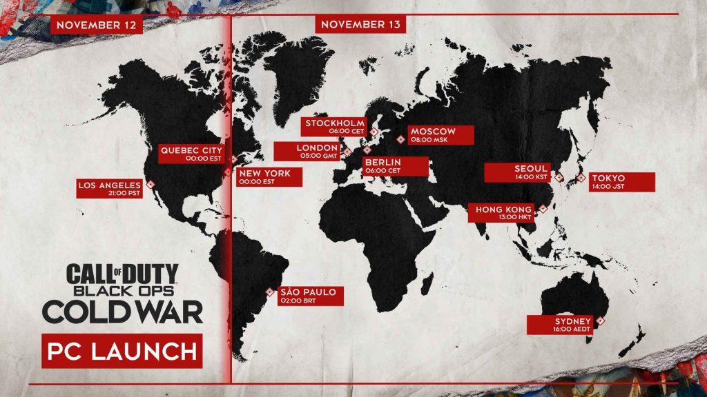 cod cold war globaler release timer