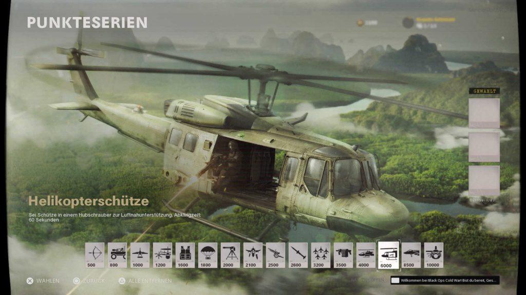 cod cold war scorestreak helikopterschütze