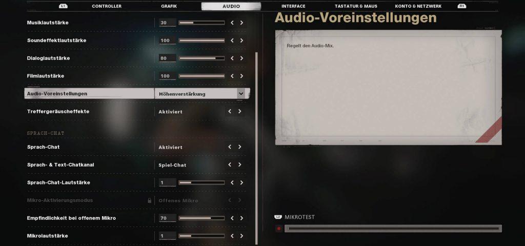 cod cold war settings audio preset