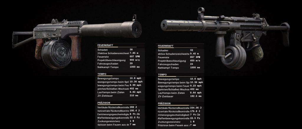 cod cold war waffen vergleich ak-74u vs mp5
