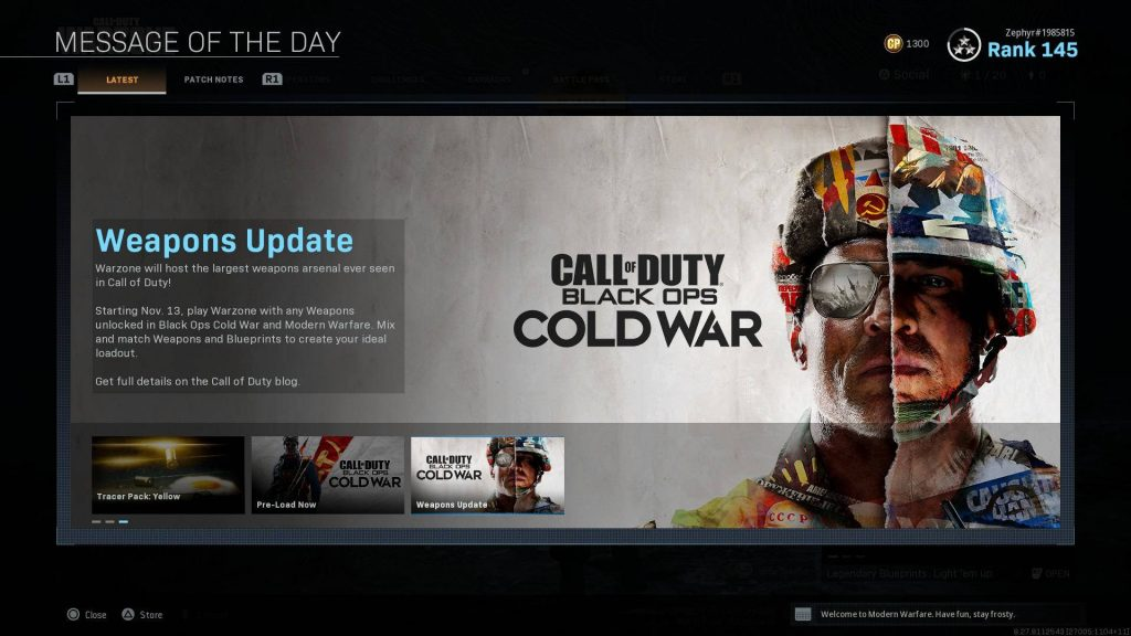 cod modern warfare warzone cold war update 1.29 schon mit cw waffen