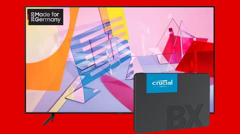 Samsung QLED-TV und Crucial-SSD zum Bestpreis bei MediaMarkt