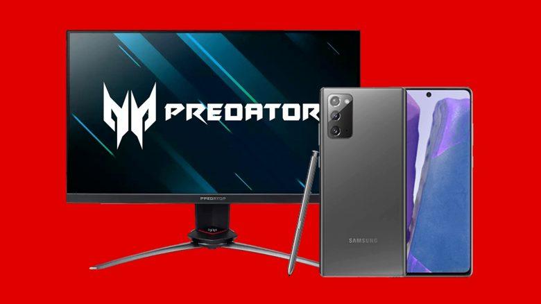 Acer Gaming-Monitor und Galaxy Note 20 zum Bestpreis bei MediaMarkt