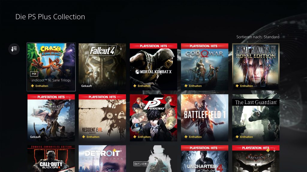 ps5 ps plus sammlung alle games