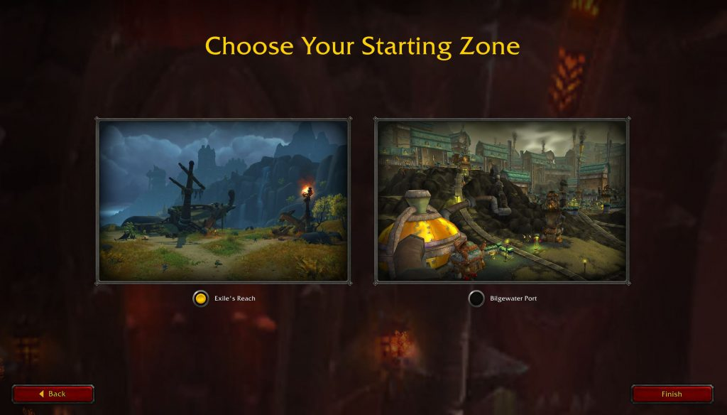 wow level guide start zone auswählen