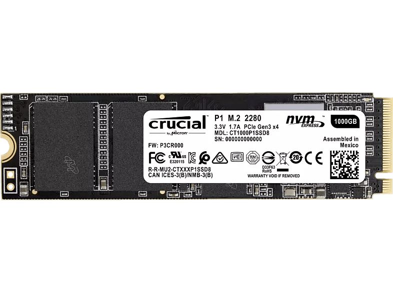 Crucial P1 SSD (1 TB)