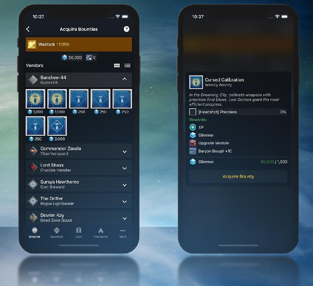 Destiny 2 Gefährten App Companion Smartphone Handy