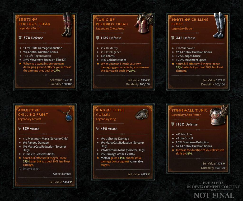 Diablo 4 legendäre Gegenstände