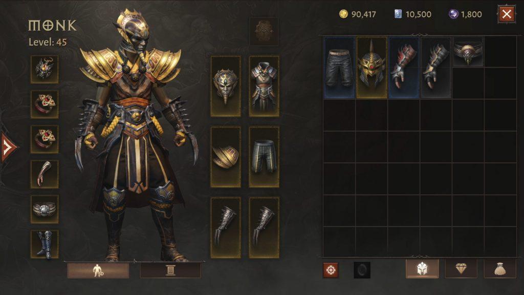 Diablo Immortal Ausrüstung